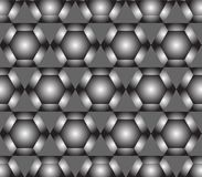 Seamless geometric pattern with hexagons Royalty Free Stock Photos