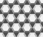 Seamless geometric pattern with hexagons Stock Images