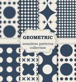 Vector illustration seamless geometric patterns Royalty Free Stock Image