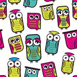 Seamless owl pattern. Vector illustration of the Seamless owl pattern Royalty Free Stock Photography