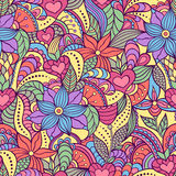 Seamless pattern with abstract flowers. Vector illustration of seamless pattern with abstract flowers.Floral background Royalty Free Stock Photos