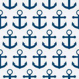 Vector illustration of a seamless pattern of anchors Royalty Free Stock Photography