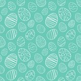 Vector illustration: Seamless pattern background of Hand drawn Easter eggs. Sketch line doodle design. Vector illustration: Seamless pattern background of Hand Royalty Free Stock Photo