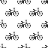 Vector illustration. Seamless pattern with bikes on white background vector illustration