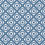 Vector illustration of a seamless pattern of circles and squares Royalty Free Stock Photo