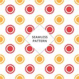 Vector illustration seamless pattern gear red and orange color royalty free illustration