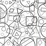 Vector  illustration seamless pattern geometrical figures. Vector  illustration seamless pattern black-and-white geometrical figures for background Stock Photography