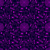 Vector illustration. seamless pattern. Halloween. background wit Royalty Free Stock Images