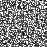 Vector illustration of seamless pattern with numbers. Stock Image