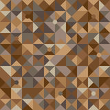 Vector illustration of a seamless pattern of simple circles and triangles in shades of brown in various shades Stock Images