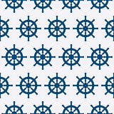 Vector illustration of a seamless pattern of steering wheels Royalty Free Stock Photos
