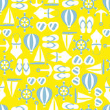 Vector illustration of seamless pattern with summer symbols Royalty Free Stock Image