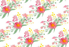 Vector illustration - Seamless pattern with watercolor flowers Royalty Free Stock Images
