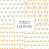 Vector illustration of Seamless patterns set. Royalty Free Stock Photo