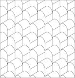 Vector illustration of a seamless repeating geometric Pattern. Stock Image