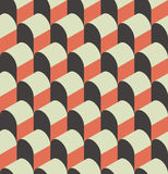 Vector illustration of a seamless repeating geometric Pattern. Stock Photos