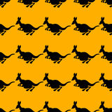 Vector illustration of a seamless repeating pattern of cheerful Royalty Free Stock Images