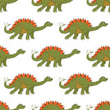 Vector illustration of a seamless repeating pattern of dinosaur Royalty Free Stock Images