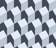 Vector illustration of a seamless repeating pattern of isometric Royalty Free Stock Images