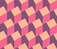 Vector illustration of a seamless repeating pattern of isometric Stock Photography