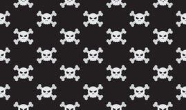 Vector illustration seamless skulls and crossbones royalty free stock image