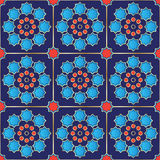 Vector Illustration of a seamless Turkish Tile Royalty Free Stock Image