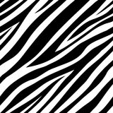 Vector illustration of seamless zebra pattern Royalty Free Stock Photo