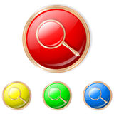 Vector illustration of search button. Search Sphere Icon. Set of buttons in different colors royalty free illustration