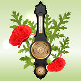 Vector Illustration with seasons barometer Royalty Free Stock Photo