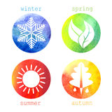Vector illustration of seasons Stock Image