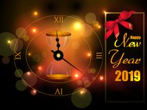Seasons greetings background for Happy New Year 2019 vector illustration