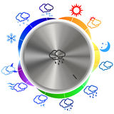 Vector illustration of seasons switch. Vector illustration switch seasons and seasons on white background Stock Images