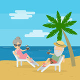 Vector illustration of senior couple Royalty Free Stock Images