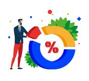 Data analysis. Build a chart and interact with the charts. stock illustration