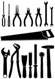 Vector illustration set of 15 different tools Stock Image