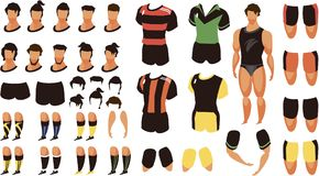 Football set for animation Royalty Free Stock Images