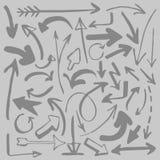 Vector illustration. Set of different arrows stock illustration