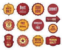Set of  badges and stickers Stock Photos