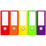 Set of binders Stock Images