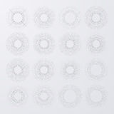 Vector illustration. Set bursting rays Stock Photo