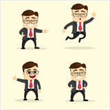 Vector illustration. Set of business man in different poses. Stock Photos