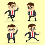Vector illustration. Set of business man in different poses. Royalty Free Stock Photography