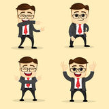 Vector illustration. Set of business man in different poses. Stock Photography