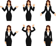 Vector illustration set of business woman Stock Photo