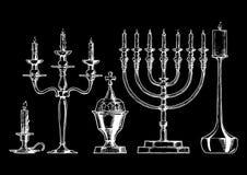 Vector illustration set of candlesticks. Stock Images