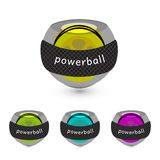Set of carpal balls for hand. Gyroscopic. Vector Illustration. Set of carpal balls for hand. Gyroscopic wrist exerciser. Colorful powerballs for health vector illustration