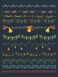 Vector illustration.  Set of Christmas and decorative elements. Stock Photo