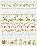 Vector illustration.  Set of Christmas and Royalty Free Stock Images