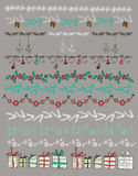 Vector illustration. Set of Christmas and decorative elements. Stock Images