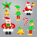 Christmas elements vector set Royalty Free Stock Photography